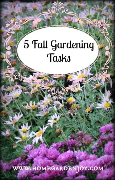 Five fall gardening tasks to do now home garden joy - Fall gardening tasks ...