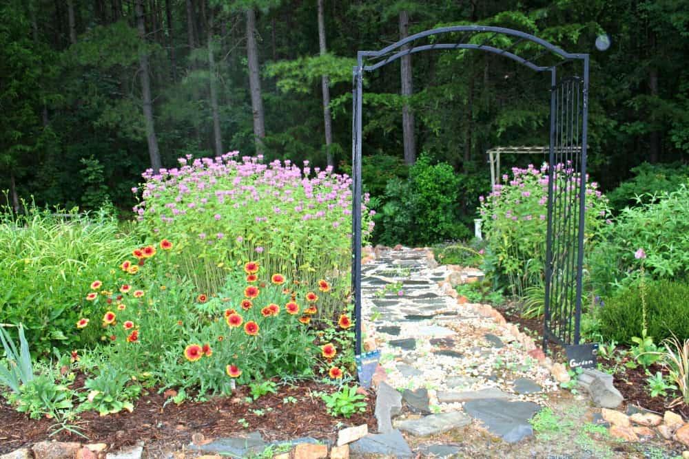 perennial garden entrance June 2016