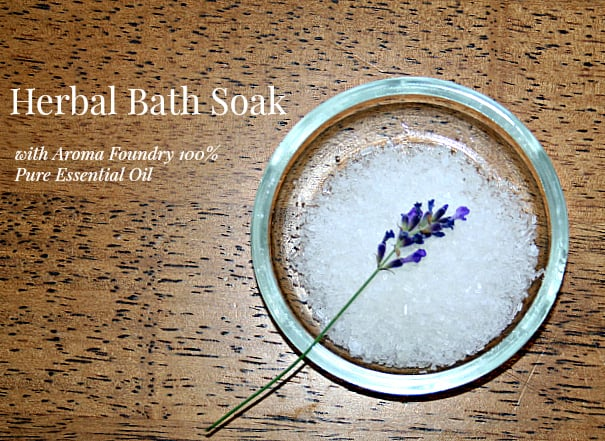 Herbal Bath Salts with Aroma Foundry Essential Oils