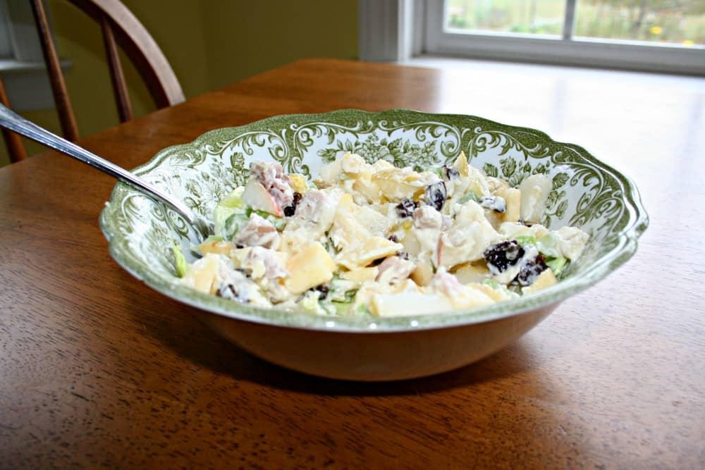 autumn waldorf salad recipe with leftover pork loin