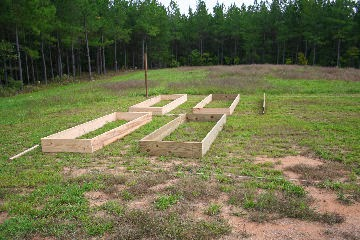 The Picture Below Shows My Vegetable Garden Under Construction. We Made A  Few Raised Bed Frames, Then Moved Them Into Position And Experimented With  The ...