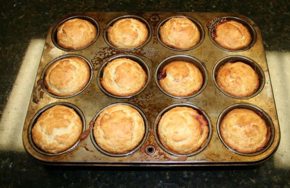 final raspberry filled muffins