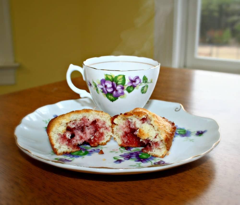 raspberry filled muffin recipe