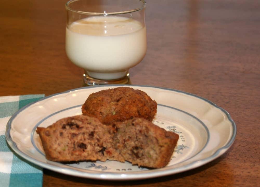 zucchini pecan muffin