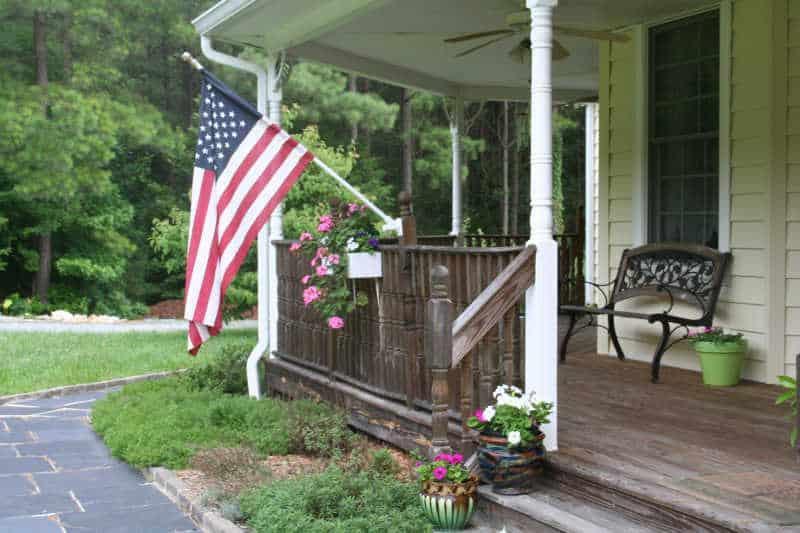 Pots on porch