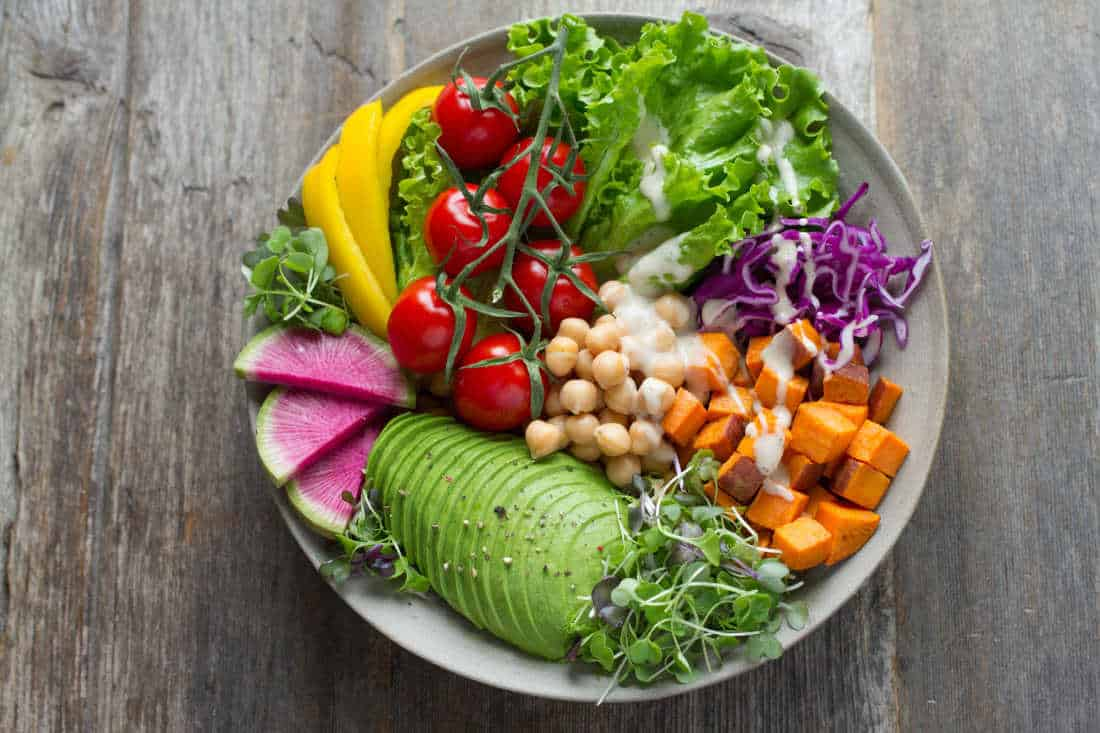 picture of a plant based diet meal